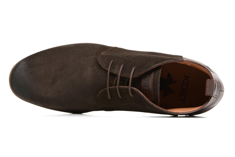 Chaussures à lacets Kost Zepi 59 Marron vue gauche