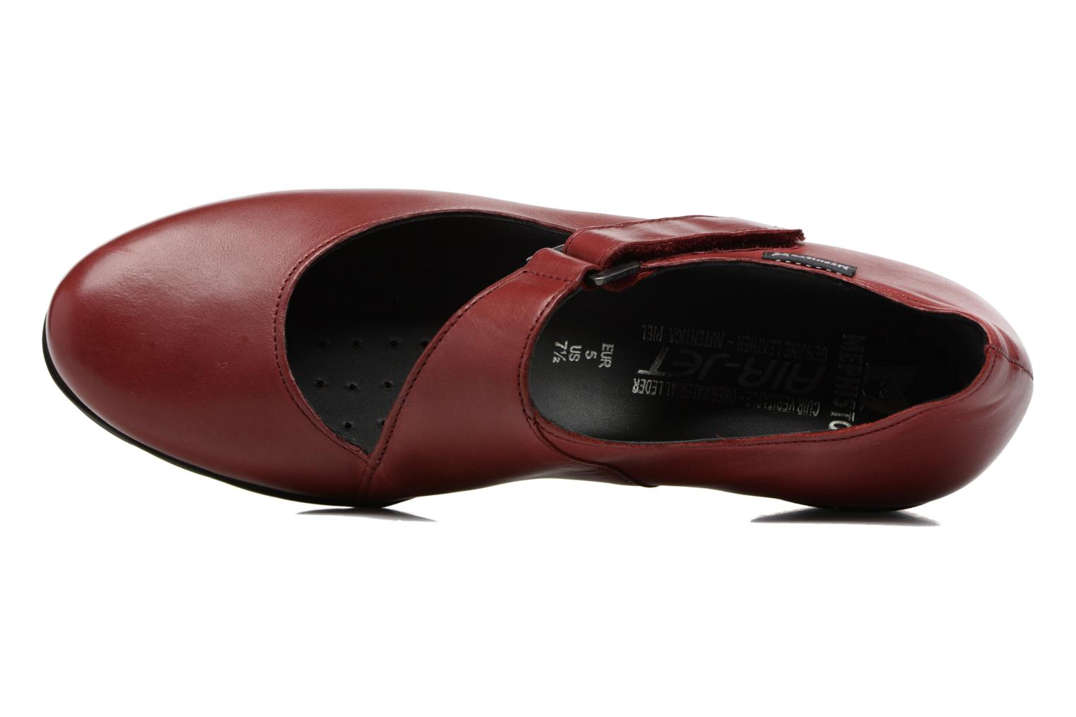High heels Mephisto Ielena Red view from the left