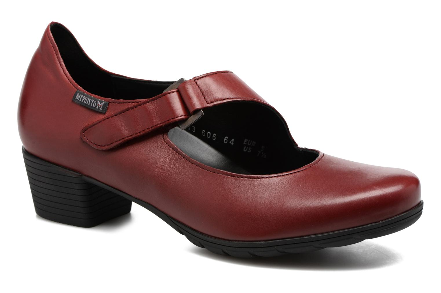 High heels Mephisto Ielena Red detailed view/ Pair view