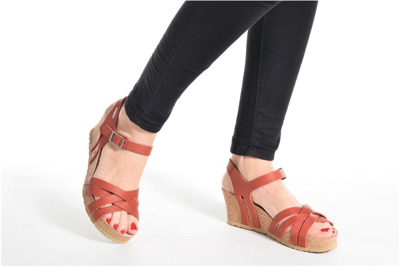 Sandales et nu-pieds Mephisto Lanny Rouge vue bas / vue portée sac
