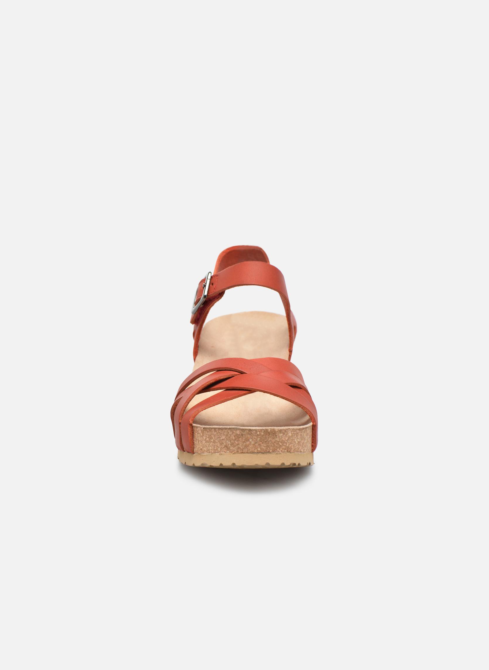 Sandales et nu-pieds Mephisto Lanny Rouge vue portées chaussures
