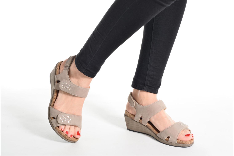 Sandales et nu-pieds Mephisto Willow Gris vue bas / vue portée sac