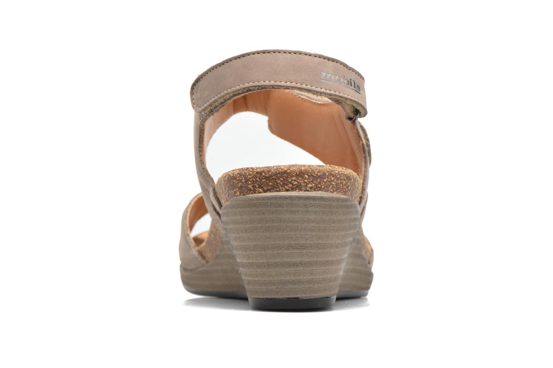 Sandales et nu-pieds Mephisto Willow Gris vue droite