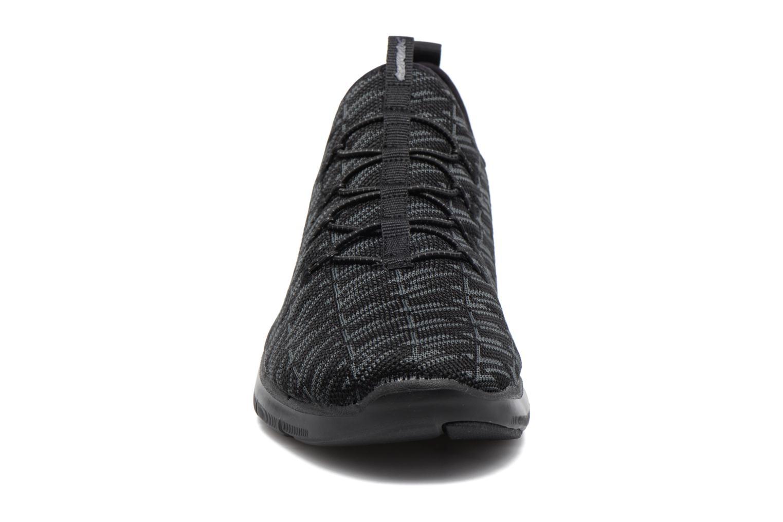 Baskets Skechers Flex Appeal 2.0 Insights Noir vue portées chaussures