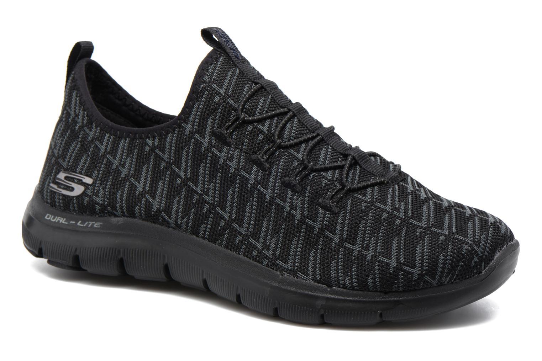 Baskets Skechers Flex Appeal 2.0 Insights Noir vue détail/paire