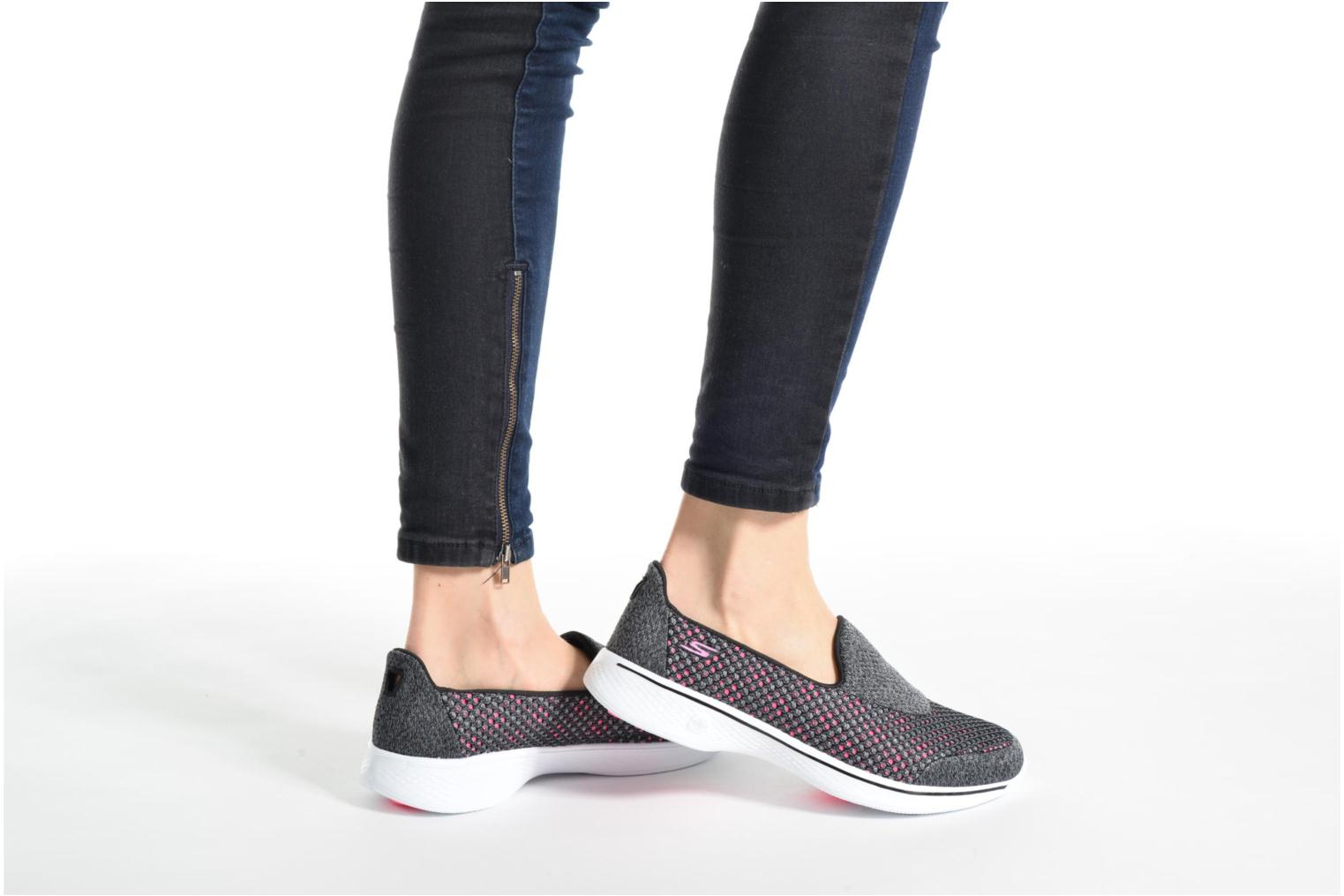 Sport shoes Skechers GO Walk 4 Kindle Grey view from underneath / model view