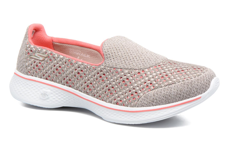 Sportssko Skechers GO Walk 4 Kindle Grå detaljeret billede af skoene