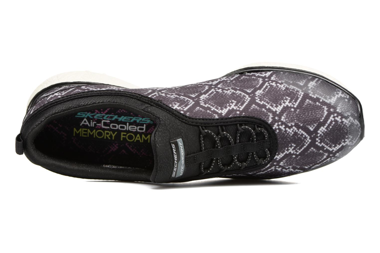 Trainers Skechers Microburst Mamba Black view from the left