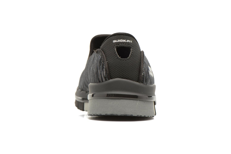 Zapatillas de deporte Skechers GO Flex Agility Negro vista lateral derecha