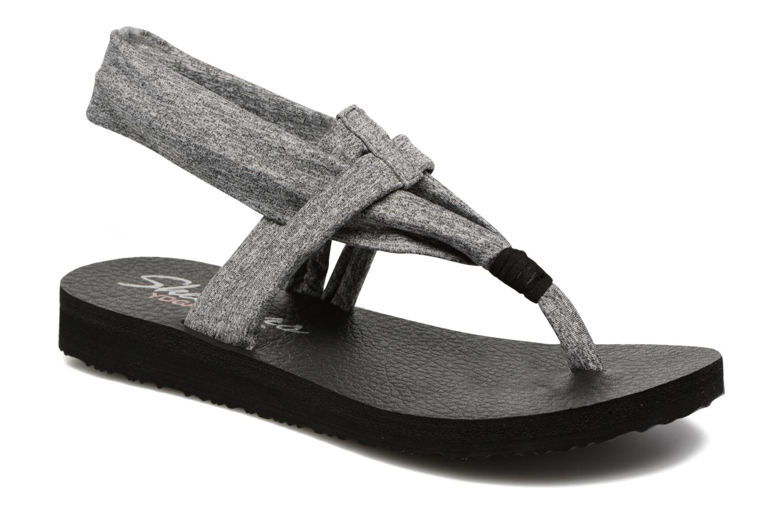 Flip flops Skechers Meditation Studio Kicks Grey detailed view/ Pair view