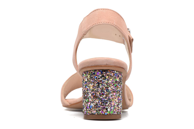 Anayette velours nude + talon glitter