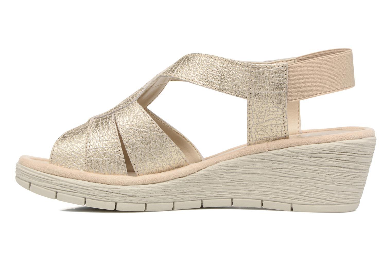 Sandals The Flexx Ammapete Bronze and Gold front view