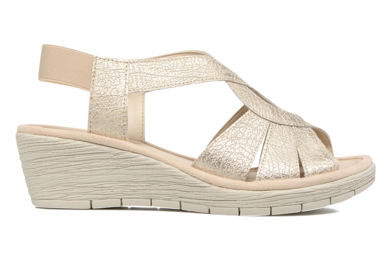 Sandals The Flexx Ammapete Bronze and Gold back view