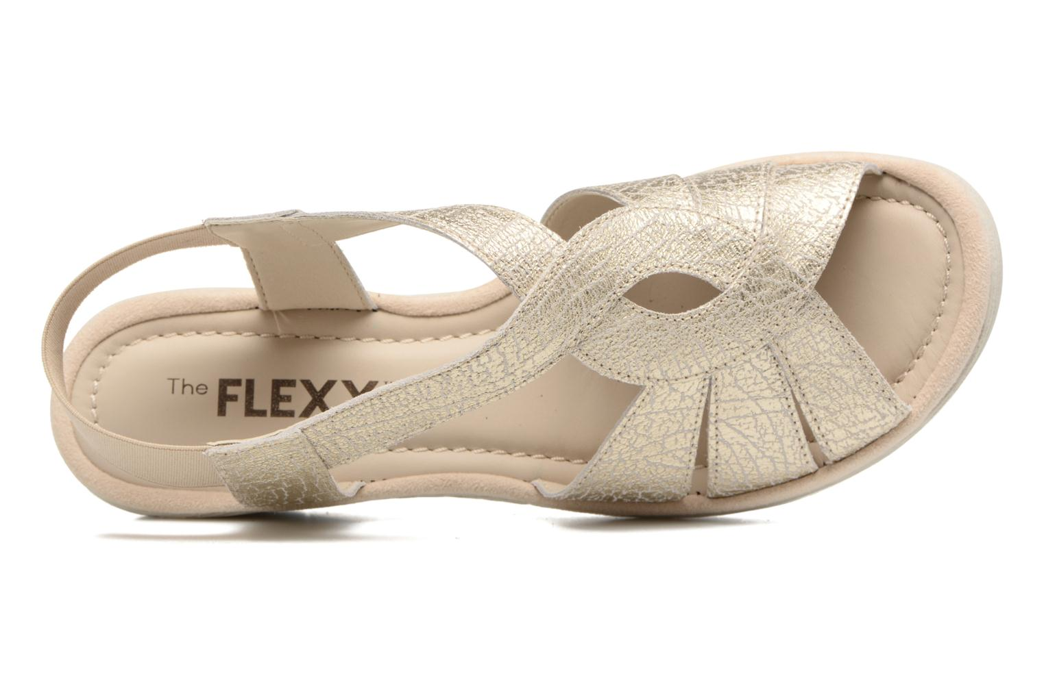 Sandals The Flexx Ammapete Bronze and Gold view from the left