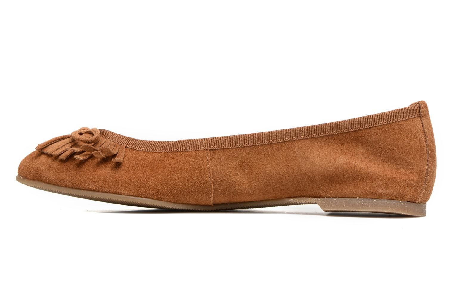 Ballet pumps Georgia Rose Lafrange Brown front view