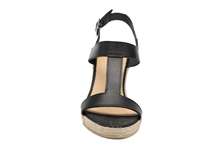 Espadrilles Georgia Rose Louvi Noir vue portées chaussures