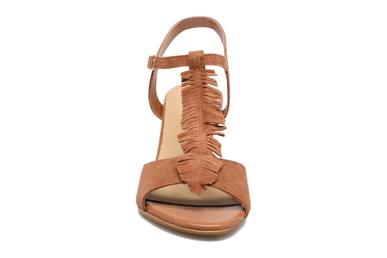 Sandalen Georgia Rose Lilifrange braun schuhe getragen
