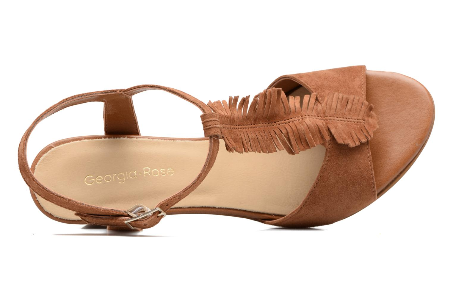 Sandals Georgia Rose Lilifrange Brown view from the left