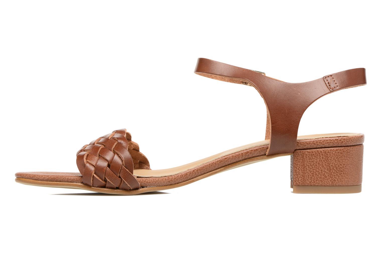 Sandales et nu-pieds Georgia Rose Loutresse Marron vue face