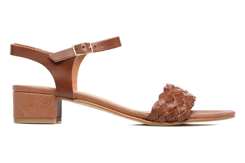 Sandales et nu-pieds Georgia Rose Loutresse Marron vue derrière