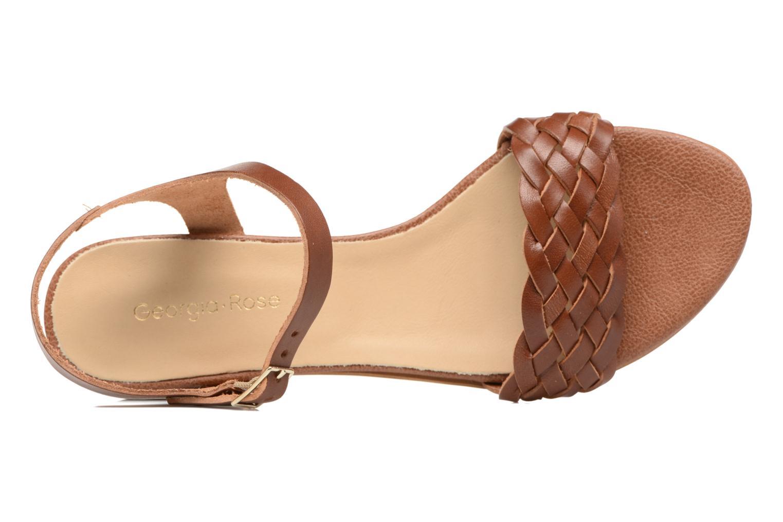 Sandales et nu-pieds Georgia Rose Loutresse Marron vue gauche