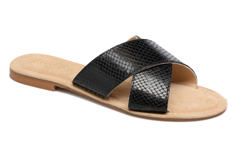 Zapatos cómodos y versátiles Georgia Rose Dorice mule (Negro) - Zuecos en Más cómodo