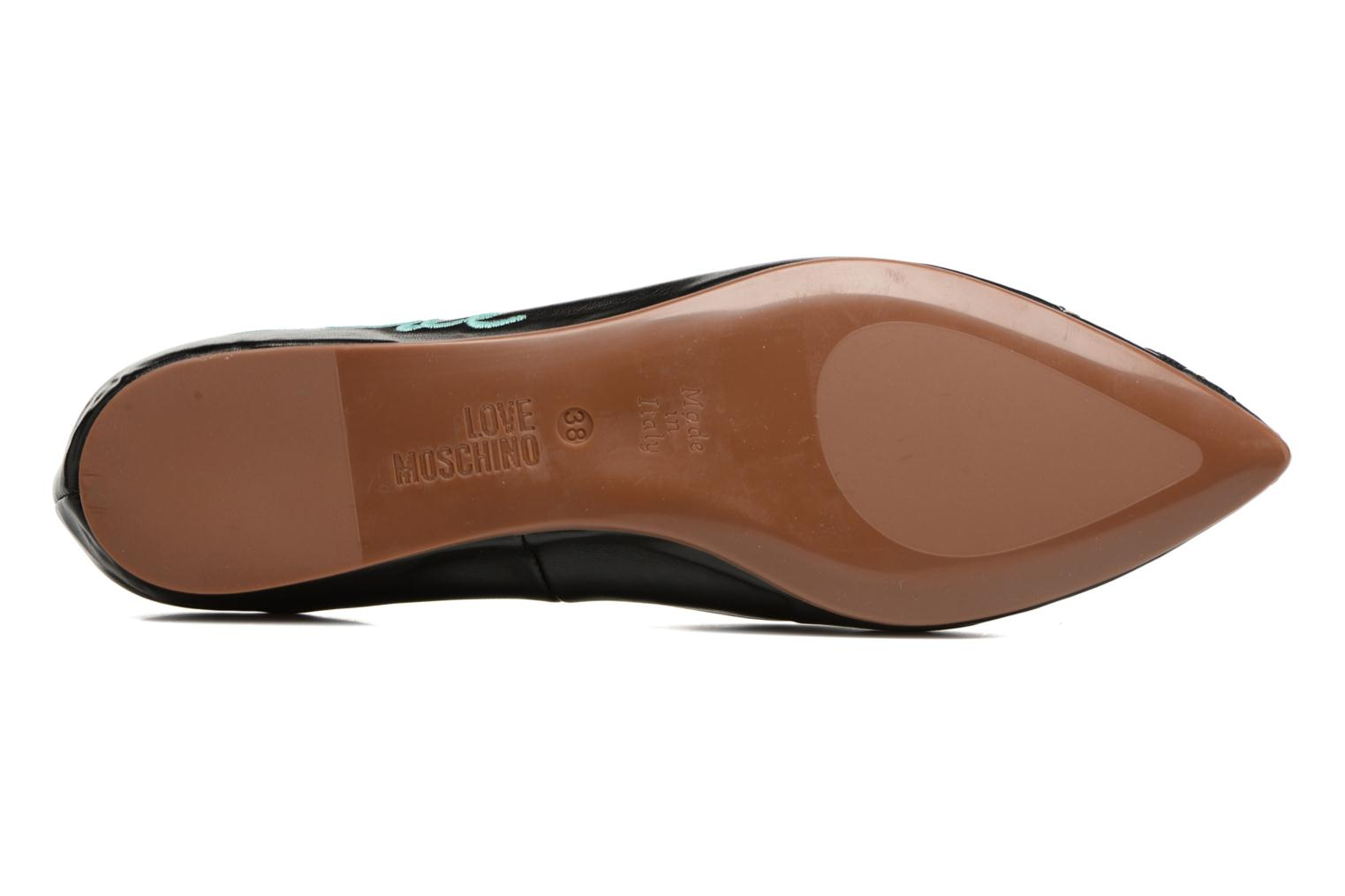 Ballet pumps Love Moschino Baila Red view from above