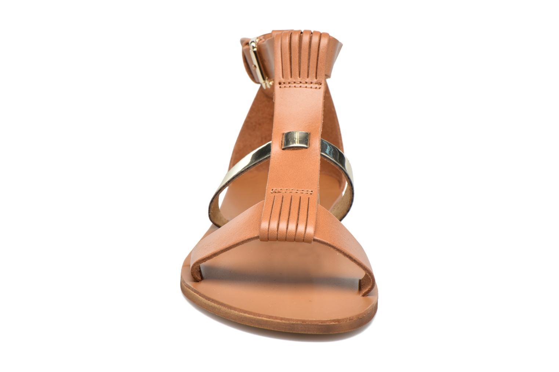 Sandales et nu-pieds Georgia Rose Dolion Marron vue portées chaussures
