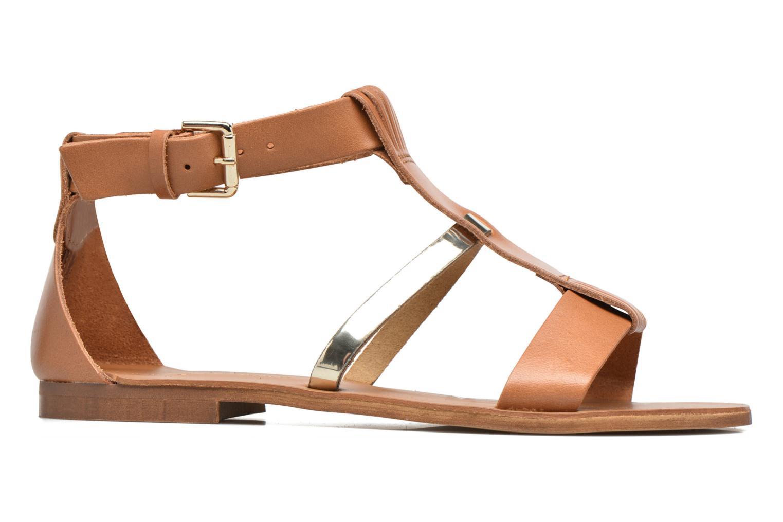 Sandalen Georgia Rose Dolion braun ansicht von hinten