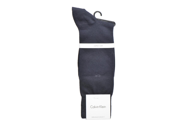 Chaussettes et collants Calvin Klein Chaussettes ESSENTIAL 14 GAUGE Coton Bleu vue derrière