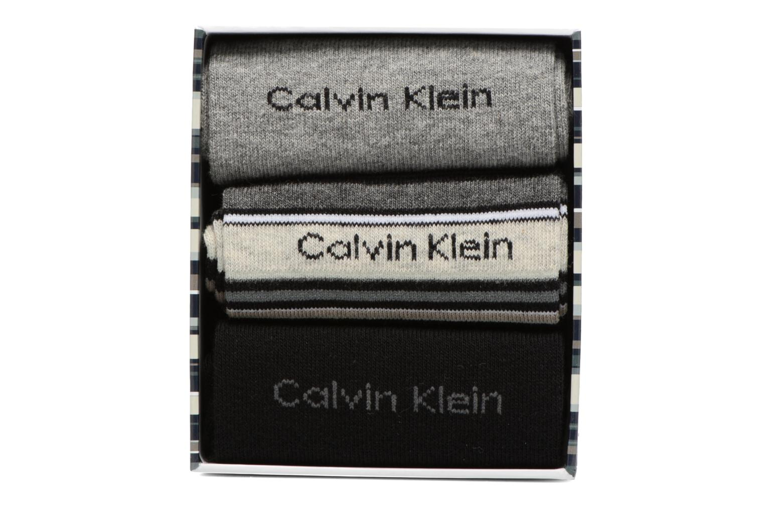 Socks & tights Calvin Klein Chaussettes MUTI STRIPE GIFT BOX Pack de 3 Coton Multicolor model view