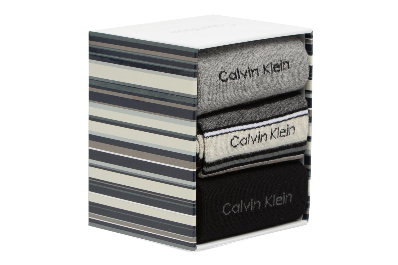 Chaussettes et collants Calvin Klein Chaussettes MUTI STRIPE GIFT BOX Pack de 3 Coton Multicolore vue face
