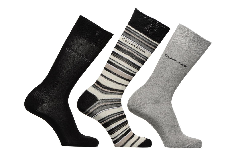 Socken & Strumpfhosen Calvin Klein Chaussettes MUTI STRIPE GIFT BOX Pack de 3 Coton mehrfarbig detaillierte ansicht/modell