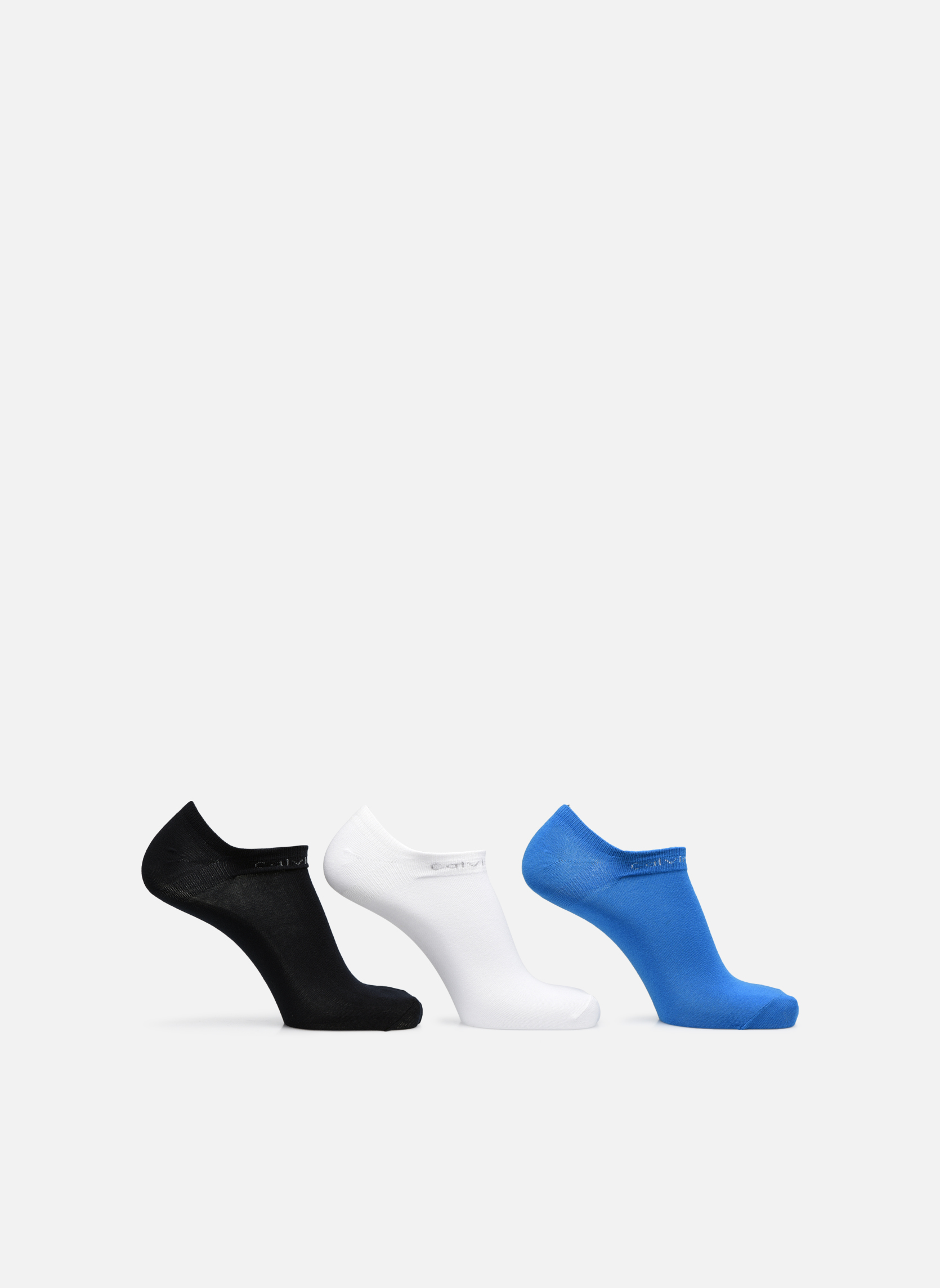 Socken & Strumpfhosen Calvin Klein Mini-Soquettes COOLMAX COTTON LINER PACK Pack de 3 Coton mehrfarbig detaillierte ansicht/modell