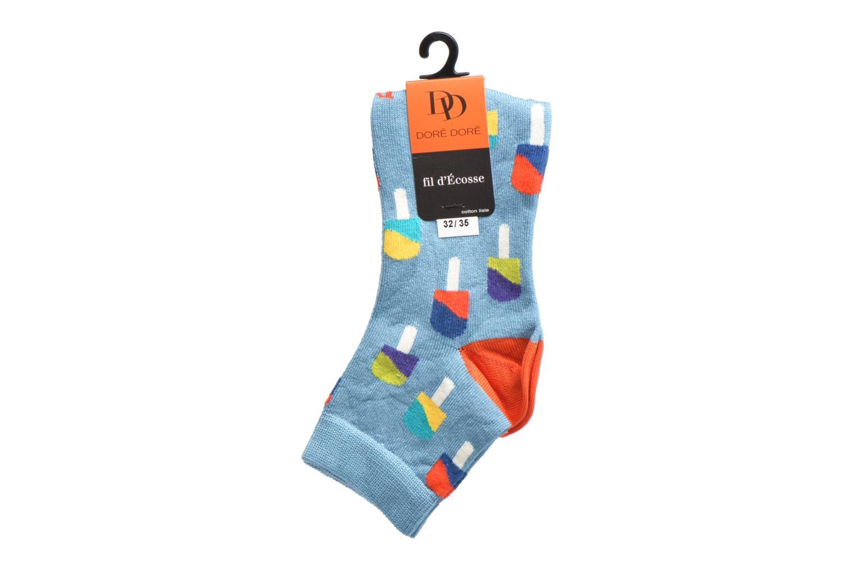Sokken en panty's Doré Doré Chaussettes Socquettes Glace Blauw achterkant