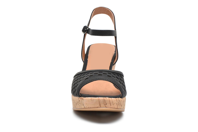 Sandales et nu-pieds Les P'tites Bombes Etoile Noir vue portées chaussures