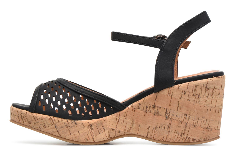 Sandals Les P'tites Bombes Etoile Black front view