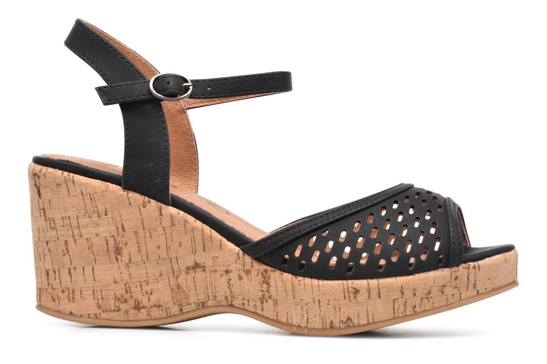 Sandales et nu-pieds Les P'tites Bombes Etoile Noir vue derrière