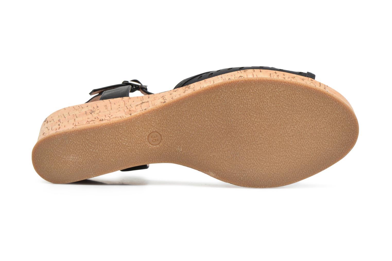 Sandales et nu-pieds Les P'tites Bombes Etoile Noir vue haut