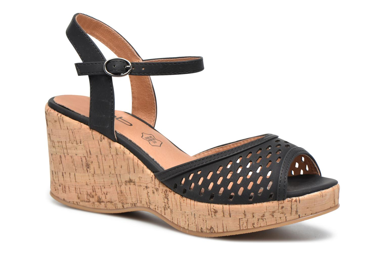 Sandals Les P'tites Bombes Etoile Black detailed view/ Pair view
