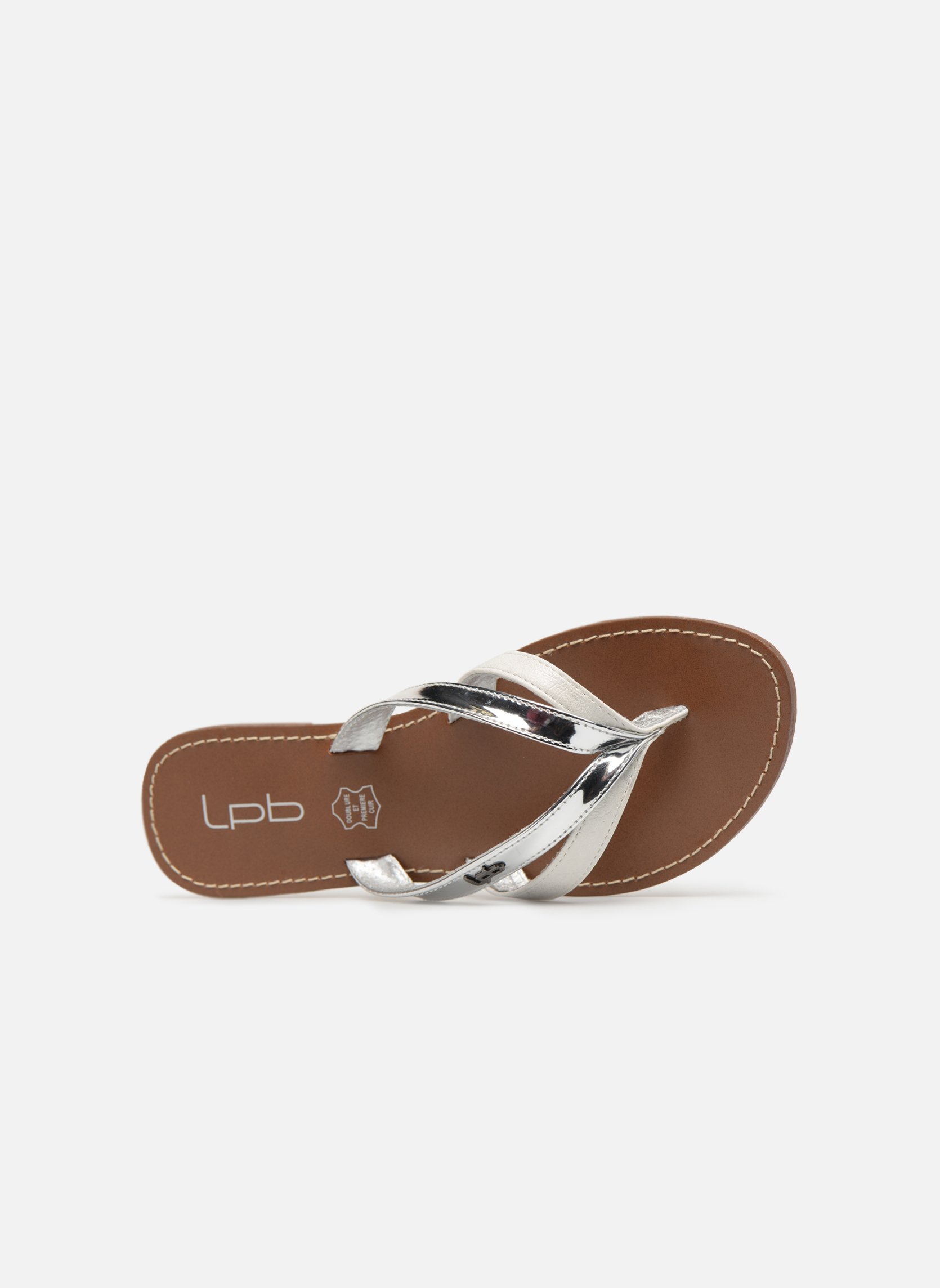 Flip flops Les P'tites Bombes Kalinda Silver view from the left