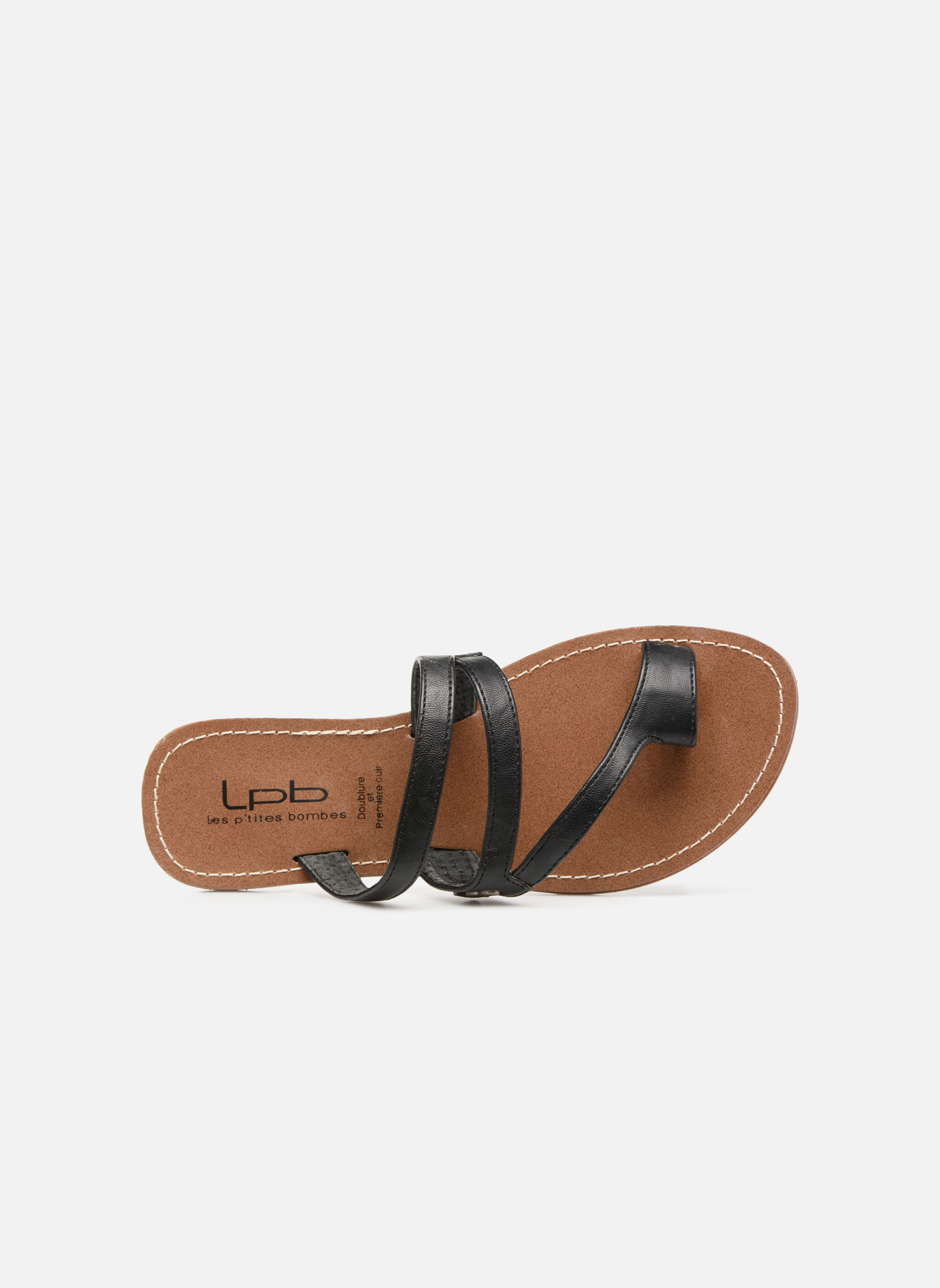 Sandals Les P'tites Bombes Texane Black view from the left