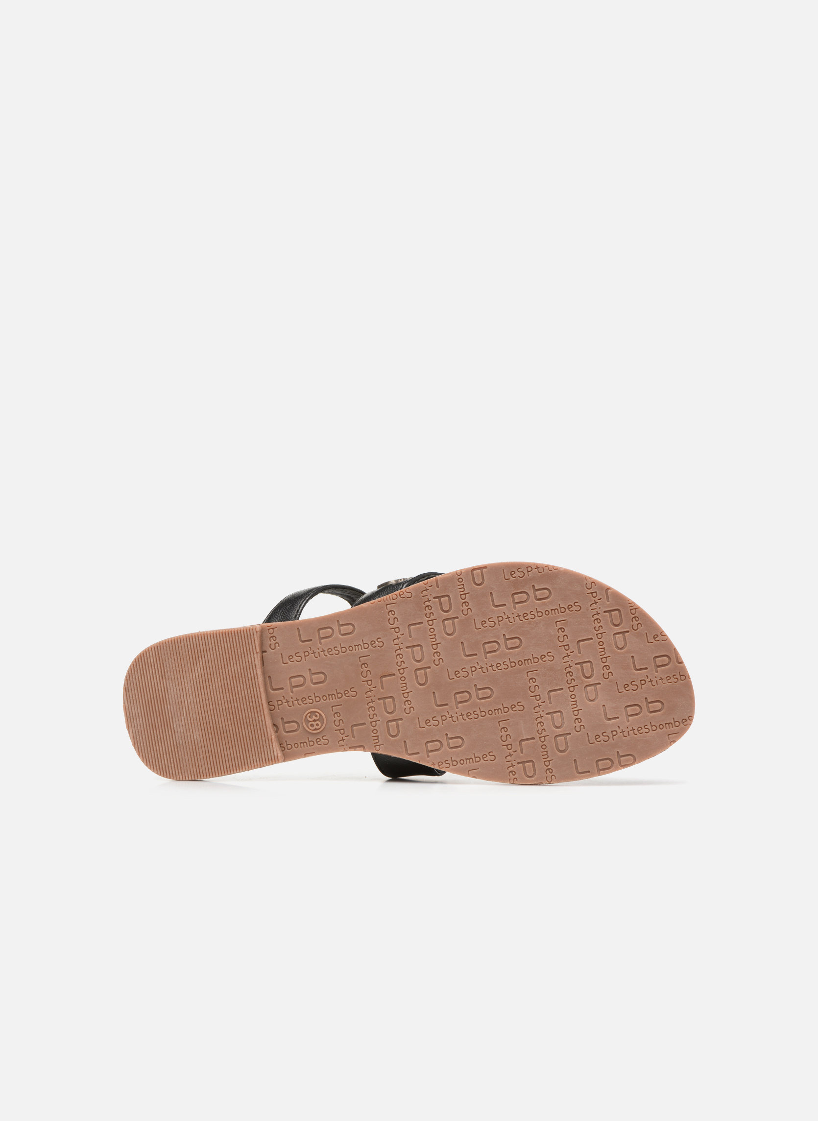 Sandales et nu-pieds Les P'tites Bombes Texane Noir vue haut