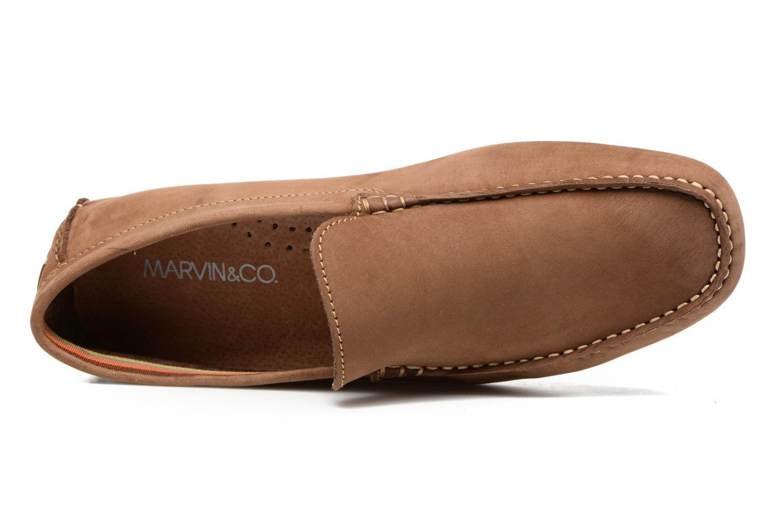 Mocassins Marvin&Co Sutton Marron vue gauche