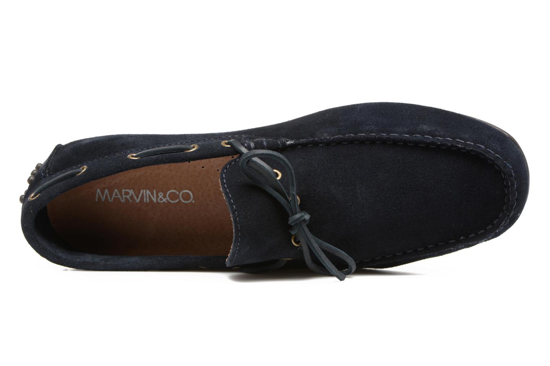 Mocassins Marvin&Co Stalban Bleu vue gauche