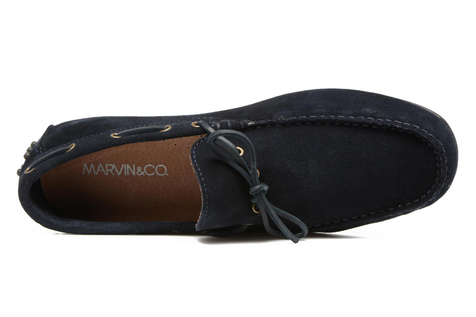 Mocasines Marvin&Co Stalban Azul vista lateral izquierda