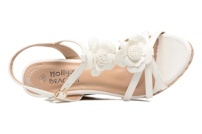 Sandales et nu-pieds Molly Bracken Nana Blanc vue gauche