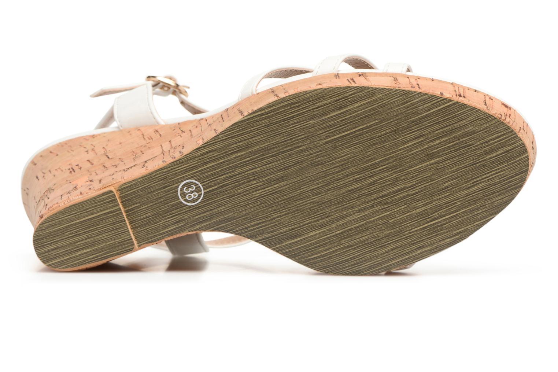 Sandales et nu-pieds Molly Bracken Nana Blanc vue haut