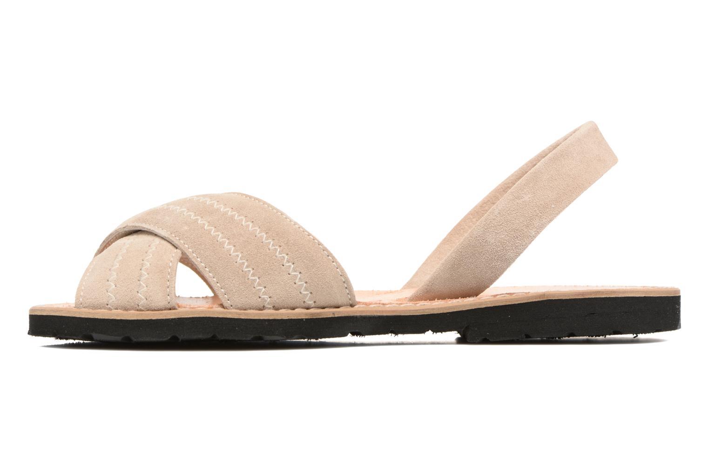 Sandales et nu-pieds MINORQUINES Avarca Berlin Beige vue face