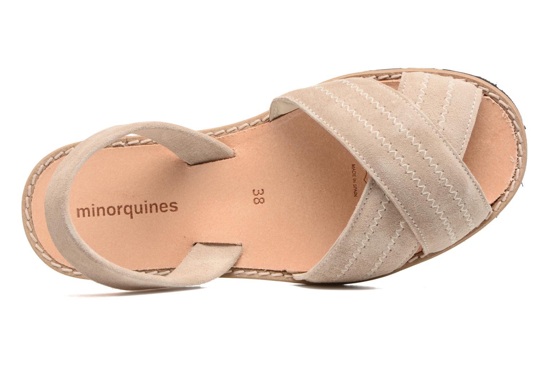 Sandales et nu-pieds MINORQUINES Avarca Berlin Beige vue gauche